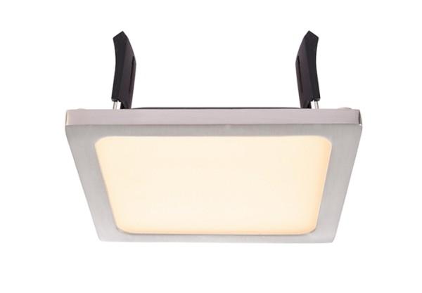 Deko-Light Deckeneinbauleuchte, LED Panel Square II 8, inklusive Leuchtmittel, Silber, gebürstet
