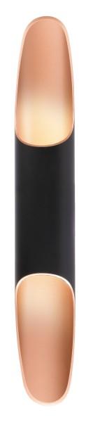 Deko-Light Wandaufbauleuchte, Apodis 500, Aluminium, Roségold, Warmweiß, 40°, 9W, 230V, 76x61mm