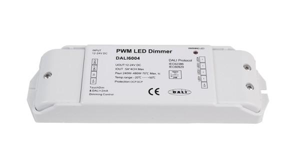 Deko-Light Controller, DALI PWM Dimmer CV 4CH, 12/24V, 5A/Channel, Kunststoff, Weiß, 480W, 12-24V