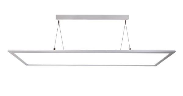 Deko-Light Pendelleuchte, LED Panel transparent, Aluminium, silberfarben, Neutralweiß, 155°, 50W
