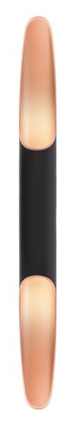Deko-Light Wandaufbauleuchte, Apodis 800, Aluminium, Roségold, Warmweiß, 30°, 12W, 230V, 76x61mm