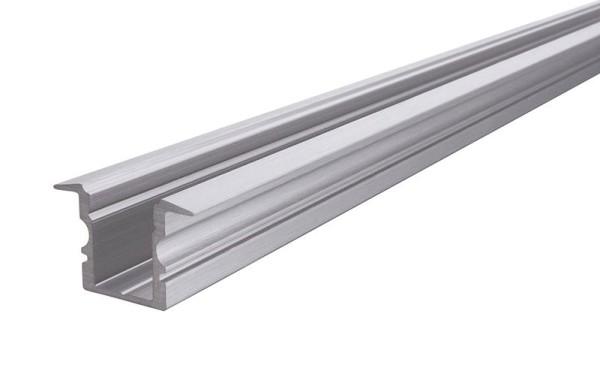Reprofil Profil, T-Profil hoch ET-02-08, Aluminium, Silber gebürstet, 1000mm
