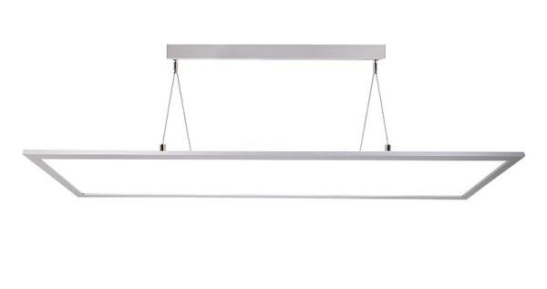 Deko-Light Pendelleuchte, LED Panel transparent, Aluminium, silberfarben, Warmweiß, 155°, 50W