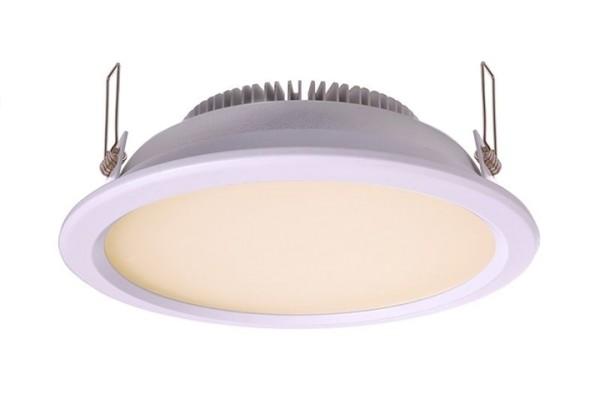 KapegoLED Deckeneinbauleuchte, inklusive Leuchtmittel, Silber, Warmweiß, Abstrahlwinkel: 110°, IP 44