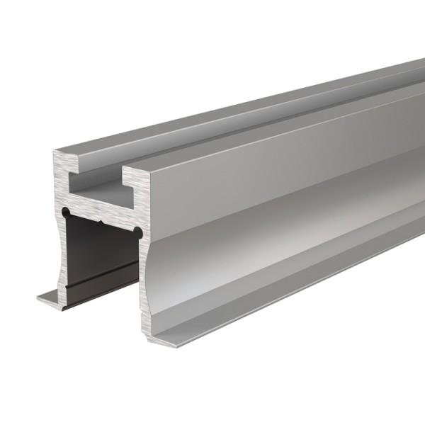 Reprofil, Nuten-Profil, T-hoch ET-04-12 für LED Stripes bis 13,3 mm, Silber-matt, eloxiert, 2000 mm