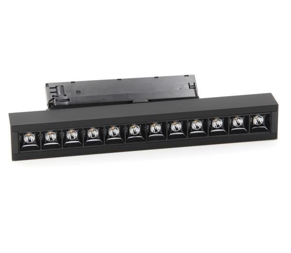 Deko-Light Schienensystem 3-Phasen 230V, Ain 24-30W, Aluminium, schwarz, Neutralweiß, 34°, 30W, 230V