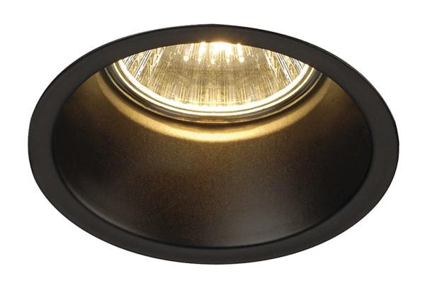 HORN 1, Einbauleuchte, QPAR51, einflammig, rund, schwarz matt, max. 50W, inkl. Clipfedern