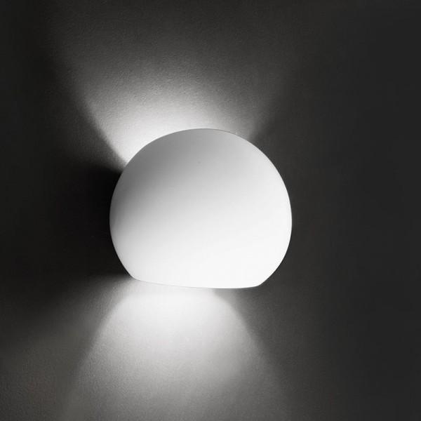Deko-Light Wandaufbauleuchte, Osano, Gips, weiß überstreichbar, 40W, 230V, 150x115mm