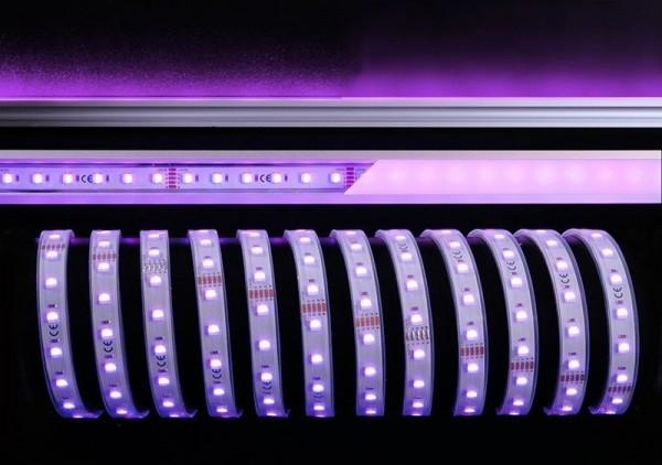 Deko-Light Flexibler LED Stripe, 5050-60-24V-RGB+6200K-5m-Silikon, Kupfer, Weiß, RGB + Kaltweiß, 65W