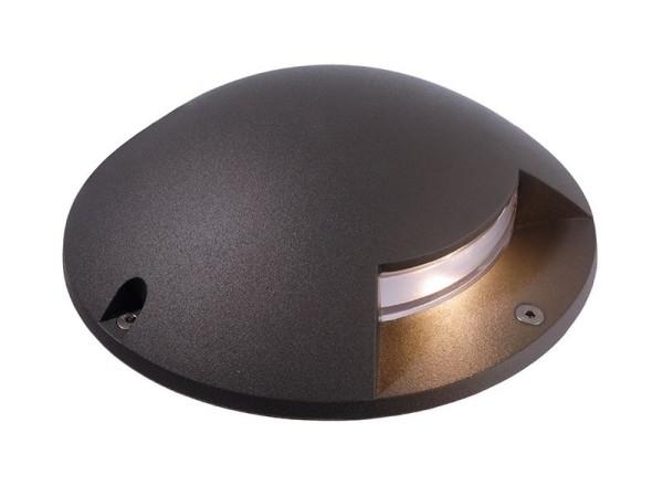 Deko-Light Boden- / Wand- / Deckenleuchte, Helios I, Aluminium Druckguss, dunkelgrau, Warmweiß, 1W