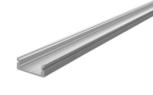Reprofil Profil, U-Profil flach AU-01-12, Aluminium, Silber-matt eloxiert, 3000mm