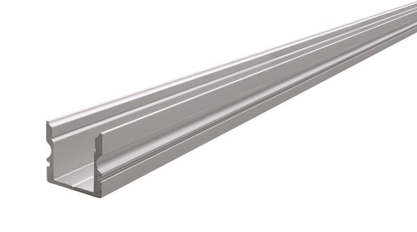Reprofil Profil, U-Profil hoch AU-02-10, Aluminium, Silber-matt eloxiert, 4000mm