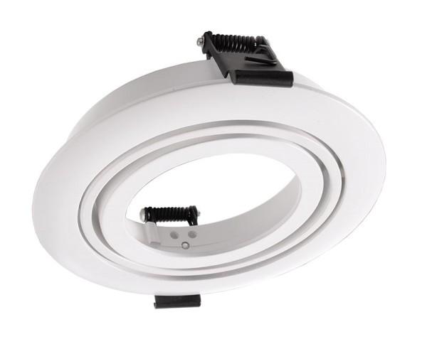 Deko-Light Zubehör, Einbauring schwenkbar für Modular Sytem COB, Aluminium, Weiß mattiert