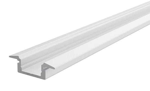 Reprofil Profil, T-Profil flach ET-01-08, Aluminium, Weiß-matt, 2000mm