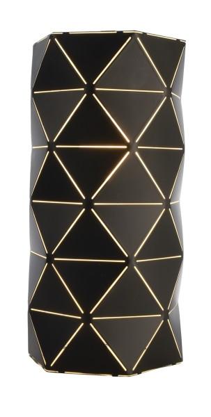 Deko-Light Wandaufbauleuchte, Asterope linear, Metall, schwarz matt, 25W, 230V, 300x150mm