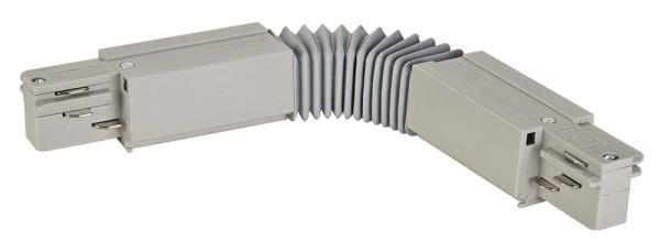 FLEX-VERBINDER, für EUTRAC Hochvolt 3Phasen-Aufbauschiene, silbergrau