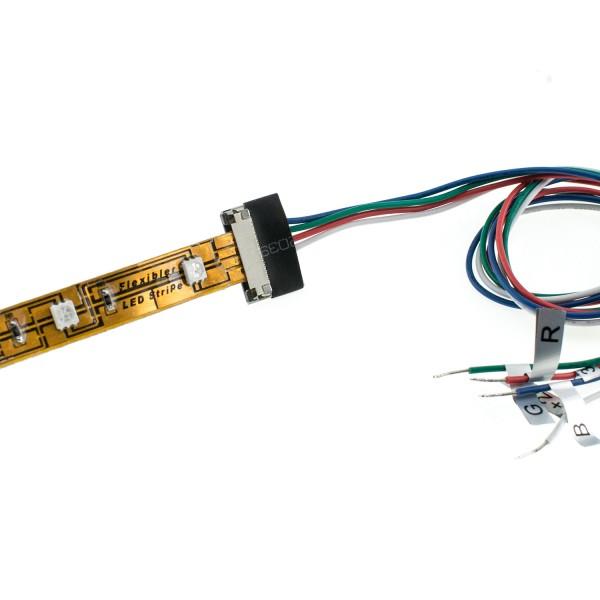 EINSPEISER, für FLEXLED ROLL RGB 24V bis 15mm Breite, max. 50W, 50cm