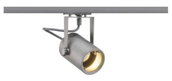 EURO SPOT, Spot für Hochvolt-Stromschiene 1Phasen, QPAR51, silbergrau, max. 25W