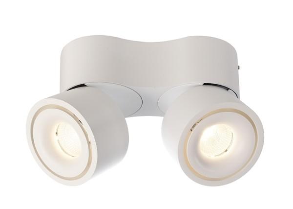 Deko-Light Deckenaufbauleuchte, Uni II Mini Double, Aluminium Druckguss, weiß, Warmweiß, 33°, 14W