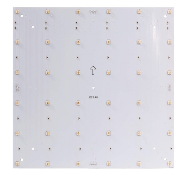 Deko-Light Modular System, Modular Panel II 6x6 RGB + 3000K, Aluminium, Weiß, RGB + Warmweiß, 120°