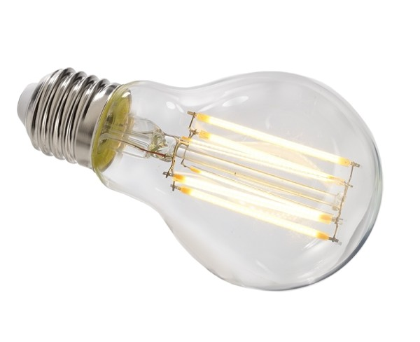 Deko-Light Leuchtmittel, Filament E27 A60 2700K, Glas, Warmweiß, 300°, 8W, 230V, 44mA, 105mm