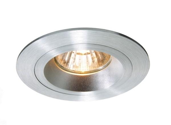 Kapego Deckeneinbauring, exklusive Leuchtmittel, Silber-matt, spannungskonstant, 12V AC/DC, Anzahl S