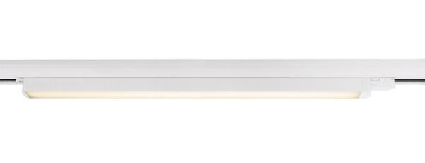 Deko-Light Schienensystem 3-Phasen 230V, Linear 100, Aluminium, weiß mattiert, Warmweiß, 110°, 30W