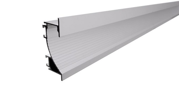Reprofil, Trockenbau-Profil, Wandvoute EL-02-12 für 14mm LED Stripes, Aluminium, Silber-matt