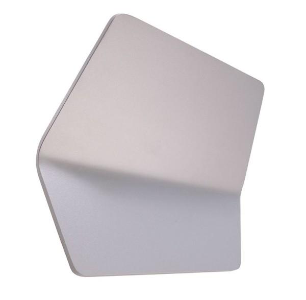 Deko-Light Wandaufbauleuchte, Keops, Aluminium Druckguss, silberfarben, Warmweiß, 100°, 13W, 230V