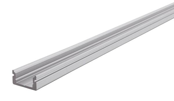 Reprofil Profil, U-Profil flach AU-01-08, Aluminium, Silber-matt eloxiert, 1000mm