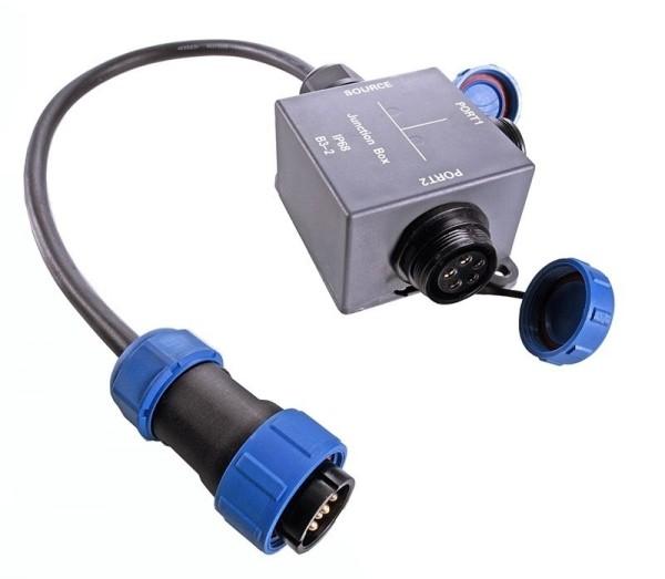 Deko-Light Kabelsystem, Weipu Verteilerbox 5-polig, Kunststoff, 24V, 57x57mm