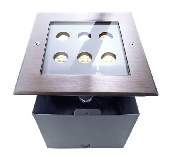 Deko-Light Bodeneinbauleuchte, Square I WWA, Aluminium Druckguss, silberfarben, Warmweiß, 45°/35°
