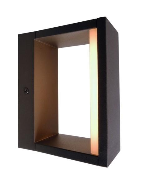 Deko-Light Wandaufbauleuchte, Cata, Aluminium Druckguss, anthrazit, Warmweiß, 100°, 6W, 230V