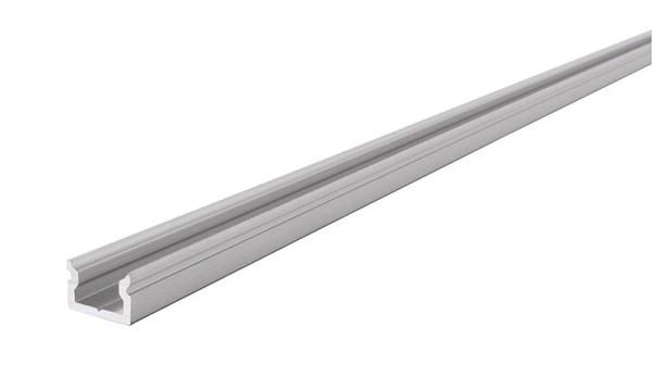 Reprofil Profil, U-Profil flach AU-01-05, Aluminium, Silber-matt eloxiert, 2000mm