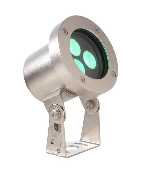 Deko-Light Unterwasserleuchte, Fiara, Edelstahl, silberfarben, RGB, 22°, 10W, 24V, 95x106mm