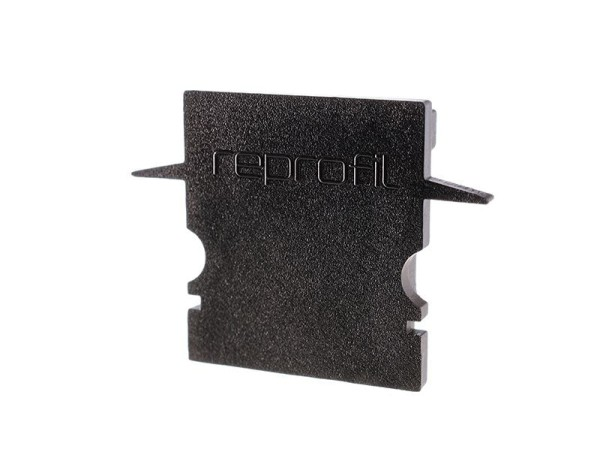 Reprofil Profil Zubehör, Endkappe H-ET-02-12 Set 2 Stk, Kunststoff, Schwarz, 27x6mm