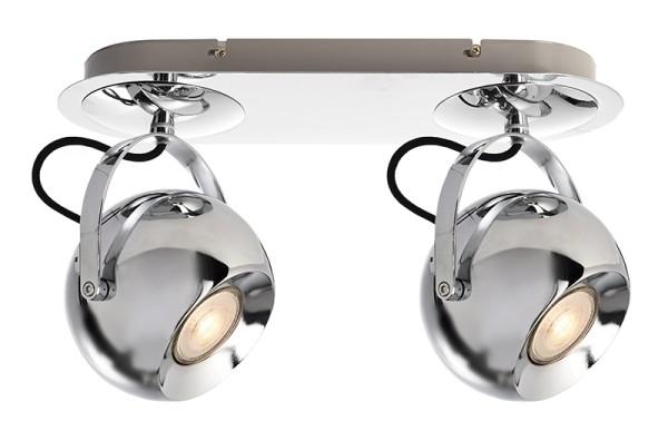 Deko-Light Deckenaufbauleuchte, Centauri II, Aluminium, silberfarben Chrom, 50W, 230V, 350x130mm