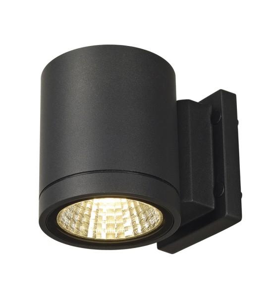 ENOLA_C, Outdoor Wandleuchte, LED, 3000K, IP55, rund, anthrazit, Ø/H 10/11,8 cm, 35°