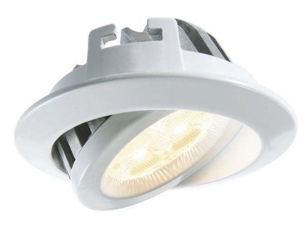 KapegoLED Deckeneinbauleuchte, TD16-5, inklusive Leuchtmittel, Weiß, Warmweiß, Abstrahlwinkel: 70°