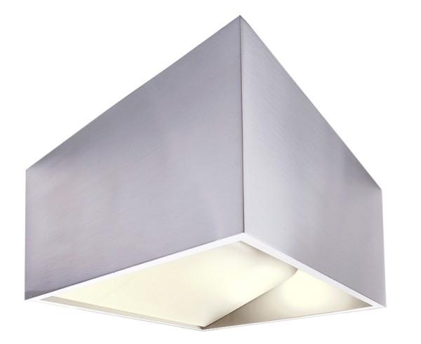 Deko-Light Wandaufbauleuchte, Dado, Aluminium Druckguss, silberfarben poliert, Warmweiß, 140 °, 5W