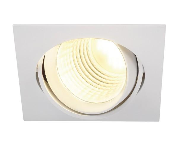 NEW TRIA DLMI, Einbauleuchte, LED, 3000K, eckig, weiß, 60°, schwenkbar, inkl. Clipfedern