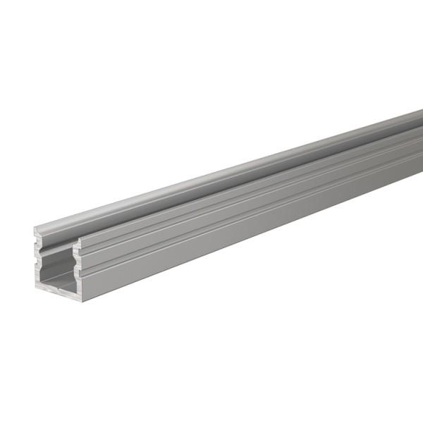Reprofil, U-Profil hoch AU-02-05 für LED Stripes bis 5,7 mm, Silber-matt, eloxiert, 2000 mm