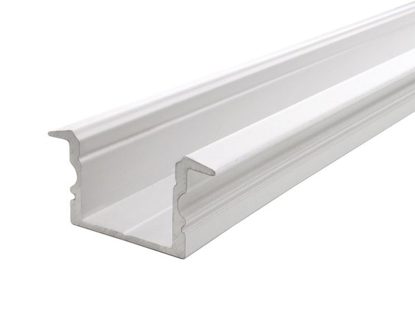 Reprofil Profil, T-Profil hoch ET-02-15, Aluminium, Weiß-matt, 1000mm