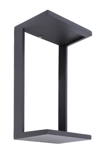 Deko-Light Zubehör, Abdeckung für Leuchte Grumium eckig V, Aluminium Druckguss, Dunkelgrau, 107x83mm