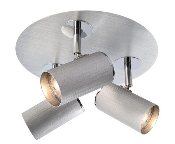 Deko-Light Deckenaufbauleuchte, Indi III, Aluminium, silberfarben gebürstet, 50W, 230V