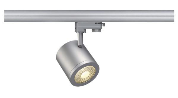 ENOLA_C, Spot für Hochvolt-Stromschiene 3Phasen, LED, 3000K, rund, silbergrau, 55°, 11,2 W