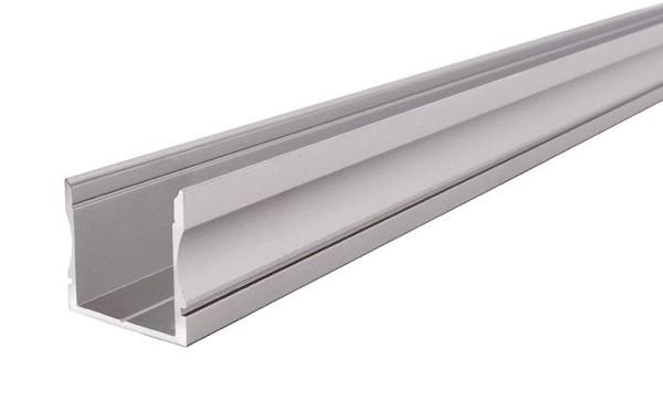 Reprofil Profil, U-Profil hoch AU-02-20, Aluminium, Silber-matt eloxiert, 2000mm