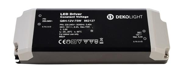 Deko-Light Netzgerät, BASIC, Q8H-12-75W, Kunststoff, Schwarz, 75W, 12V, 184x61mm