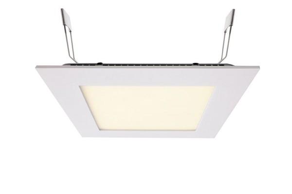 Deko-Light Deckeneinbauleuchte, LED Panel Square 15, Aluminium Druckguss, weiß, Warmweiß, 110°, 13W