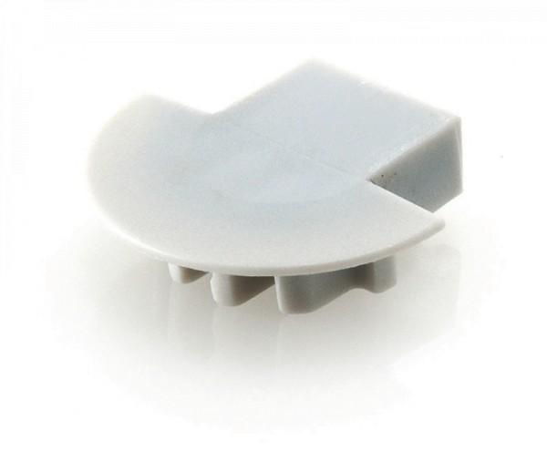 Endkappe Micro-K mit Kabelausgang, Grau